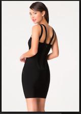 bebe Double X Bandage Black Dress Size XS Extra Small