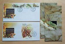 2005 Malaysia Rare Reptiles, 4v Stamps & MS pair fdc (Melaka Cachet) Lot C