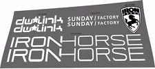 IRON HORSE SUNDAY FACTORY DECAL SET
