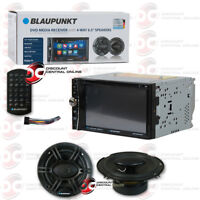 "BLAUPUNKT CAR AUDIO PACKAGE 2DIN 6.2"" DVD BLUETOOTH RADIO W/ 6.5"" 4-WAY SPEAKERS"