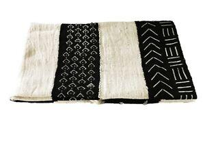 "Superb African Bogolan Mud Cloth Textile 60 "" by 40 """
