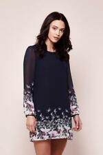 Yumi Floral Bird Tunic Dress Navy Blue Size UK 8 rrp £55 DH095 GG 12