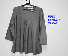 THE MASAI CLOTHING CO LADIES WOMAN GREY GRAY  BLOUSE LONG SLEEVE SIZE M 72 H