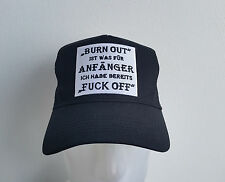 Burn Out ,Fuck Off,Trucker Cap,Mütze,Funny