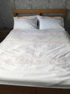 Girls Double Duvet Set With 2 x Pillowcases  (Excellent Condition)
