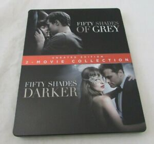 Fifty Shades of Grey / Fifty Shades Darker (Blu-Ray 2 Disc set, Steel Book)
