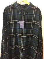 Croft & Barrow Shirt Sz 3XB B&T Flannel True Comfort Tartan Plaid Blue F21