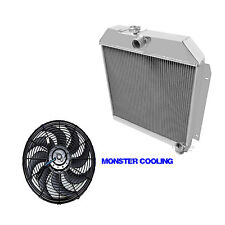"1949-1952 Chrysler Town & Country Aluminum 3 Row Champion Radiator & 16"" Fan"