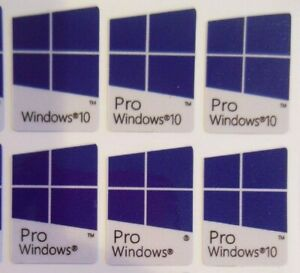 100 pcs Window 10 Pro Sticker Badge Label Logo Decal Laptop HD Quality  Blue