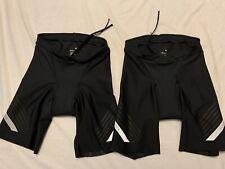 2pk Roka Comp Tri Shorts Men's Medium Black Triathlon Cycling Pad Running Swim