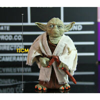 Yoda Jedi Master Yoda Action Figure Doll Real Clothes Anime Toy PVC 7 inch