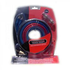 UNIVERSAL APLIFIER INSTALSTION Car Complete Amplifier Amp Wiring Cable Kit