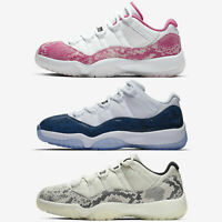 Nike Air Jordan 11 Retro Low XI Navy Pink Light Bone Snakeskin Sneakers Pick 1