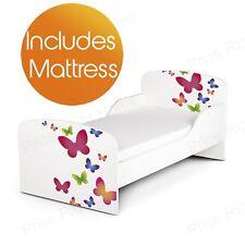 BUTTERFLIES MDF TODDLER BED + DELUXE MATTRESS NEW
