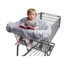 Baby Grocery Shopping Cart Chair Seat Cover, Folds Into Pouch, In Park Gate Grey