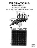 New Holland 1000 1005 1010 Baler Operators Manual