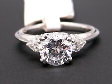 Three Stone Tacori Platinum Round Pear Cut Diamond Engagement Ring HT2311