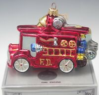 KURT ADLER POLONAISE KOMOZJA FIRE TRUCK CHRISTMAS ORNAMENT NEW