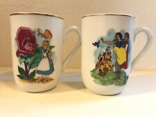 2 DISNEY COLLECTION CLASSIC MUGS - SNOW WHITE & ALICE - MADE IN JAPAN