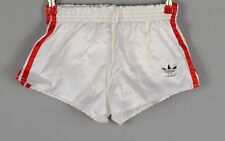 ADIDAS Glanz Nylon Shorts!!!  Vintage Short Sporthose Weiß Gr:S-3       (1189)