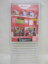 New Metaltex Totem White Plastic Coated Wire Folding Space Saving Shelf 364347