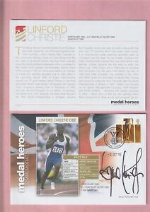 G.B. London 2012 Olympic Games, Medal Heroes, Linford Christie OBE Signed Cover
