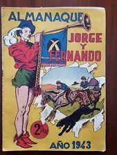 Jorge y Fernando Almanaque 1943 Hispano Americana (original)
