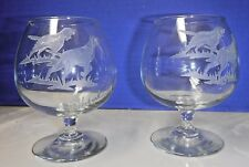 Set of 2~Etched ~Glasses~Hunting Dogs- Retrievers