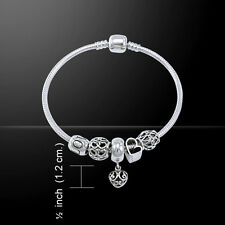 Heart .925 Sterling Silver Bead Bracelet by Peter Stone