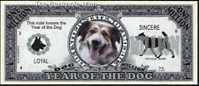 Million Note - Fantasy Money - Chinese Zodiac - Year of the Dog