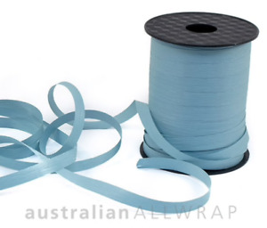 NEW_Textured Curling Ribbon DUSTY BLUE 10mm x 250m (Metres)