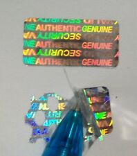 100 SVAG Hologram Security Protection Labels Sticker Seals 12.5 mm x 25 mm