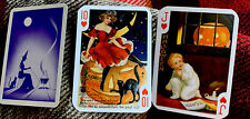 Fortune Telling Gypsy Witch Swap Cards 3 Halloween Trading Cards Pumpkin Boy Cat