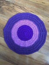 "HandMade Crochet COMFORTER Baby Blanket Security Blanky TARGET Purple 30cm/12"""