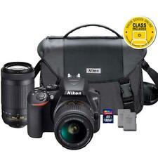 Nikon D3500 24.2MP DSLR Camera with 18-55, 70-300mm Lenses Premium Bundle