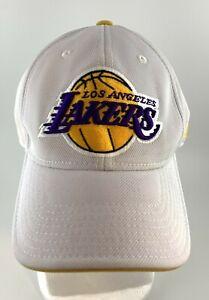 Los Angeles Lakers Adidas Snapback NBA White Yellow Hat