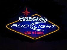 """New Here We Go Bud Light Las Vegas Beer Bar Light Lamp Neon Sign 24""""x20"""""""