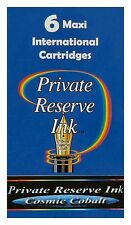 6 Cosmic Cobalt Private Reserve Ink Maxi International Cartridges / #CL41