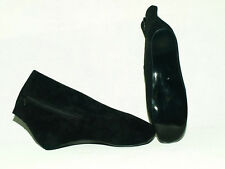 """BLACK OR RED PATENT SUEDE HIGH BALLET BOOTS  SIZE 6-16 HEEL-0""""-- POLAND FS1183"""