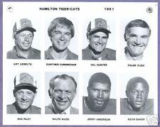 1981  CFL Hamilton Tigercats  Team Photo Set  TClements