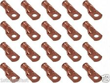 "20PK 4GAUGE UNPLATED COPPER  BATTERY TERMINAL CABLE WIRE LUGS 4GA LUG 3/8"" HOLE"