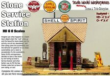 Scale Model Masterpieces/Yorke Stone Service Station Shell Oil Kit -SMM03