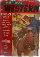 BLUE RIBBON WESTERN pulp magazine February 1949