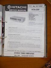 MANUAL DE SERVICIO Hitachi hta-35f receptor, original