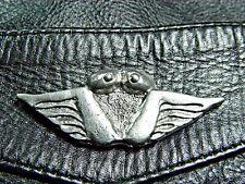 Bush Pilot Wings Classic Vintage Motorcycle Pewter Biker Jacket Vest Pin 1172a