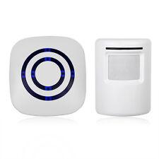 Motion Sensor Wireless Alert Home Security System Driveway Alarm Doorbell ES