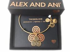 Alex and Ani Triskelion Bangle Bracelet Rafaelian Gold New Tag Box Card 2018