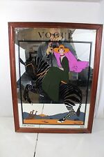 Vintage Vogue Magazine Framed Mirror Poster January 1926 Antique