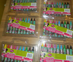 Disney Minnie Mouse Kids Jumbo Crayons Party Bag Filler x6
