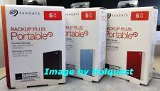 Seagate Backup Plus 5TB USB 3.0 Portable External Hard Drive New Sealed